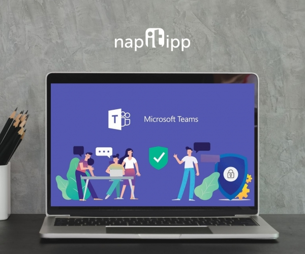 microsoft, microsoft teams, microsoft outlook, e-mail, computer, laptop, office, office table